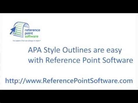 apa style outlines youtube