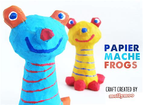 easy paper mache crafts mollymoocrafts papier mache crafts for frog to