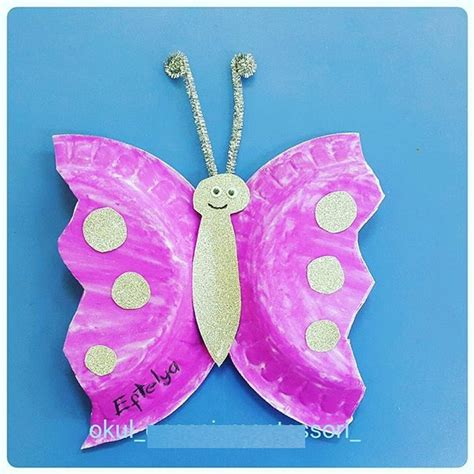 butterfly paper plate craft preschool crafts and worksheets