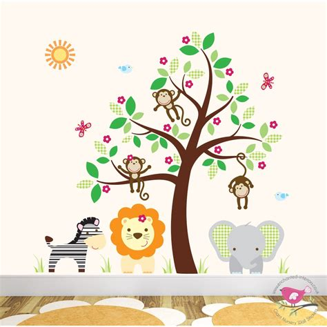 nursery wall stickers australia 100 woodland creatures wall decals wall decals