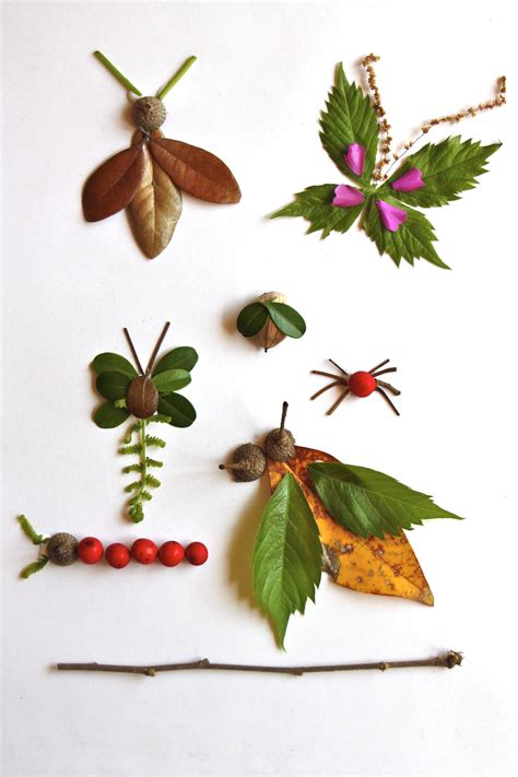 nature craft projects ways to play with nature inside out all month
