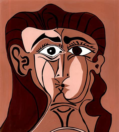 picasso paintings two faces houses of randomly scattered on behance