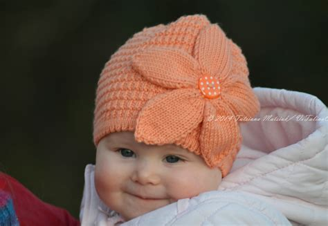 Flower Baby Hat Knitting Pattern Vitalina Craft