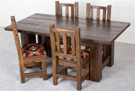 Cing Toilet Usa by Hand Crafted Barnwood Dining Table By Viking Log Furniture