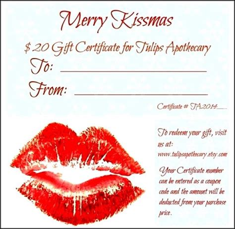 all natural beauty products holiday gift certificate