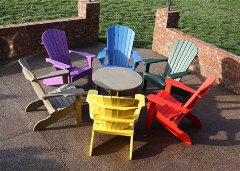 Colorful Adirondack Chairs by Colorful Plastic Adirondack Chairs For Outdoor Adirondack