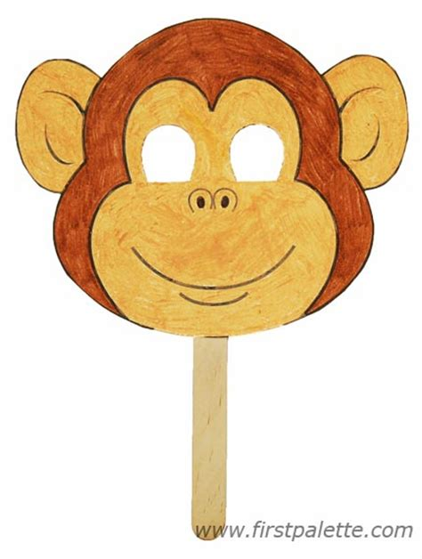 monkey craft free coloring pages of monkey mask template