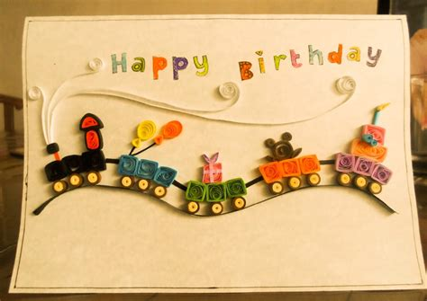 handmade craft ideas paper quilling handmade paper quilling birthday card projects ideas