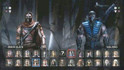 Mortal Kombat X ? All Characters (Selection Menu