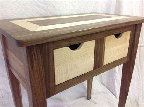 woodworking cl table custom made black walnut and tiger maple end table by