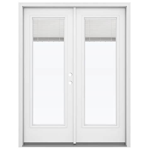 steel patio doors shop reliabilt 59 5 in blinds between the glass primed