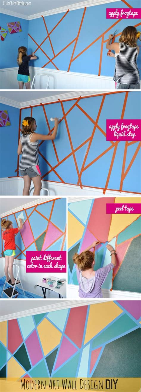 modern craft projects 34 cool ways to paint walls diy projects for