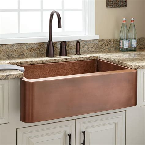 kitchens with copper sinks kitchen faucets for farm sinks
