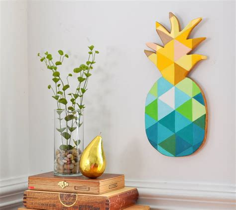 painting crafts for diy painted geometric pineapple made in a day