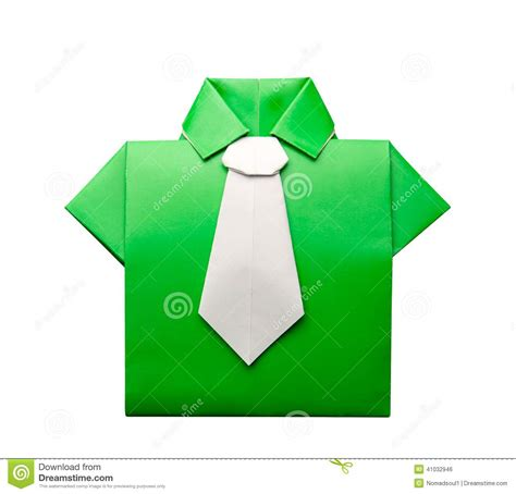 origami tie origami shirt with tie stock illustration image 41032946