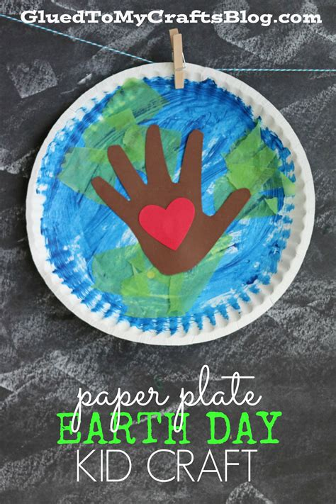 the world crafts for paper plate earth day kid craft glued to my crafts