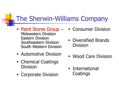 sherwin williams paint store indianapolis ppt the sherwin williams company powerpoint presentation
