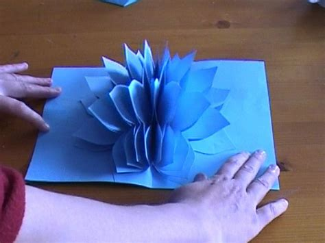 how to make amazing pop up cards amazing flower pop up card
