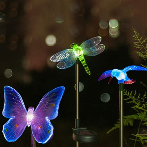 dragonfly outdoor lights led solar light outdoor dragonfly butterfly bird type