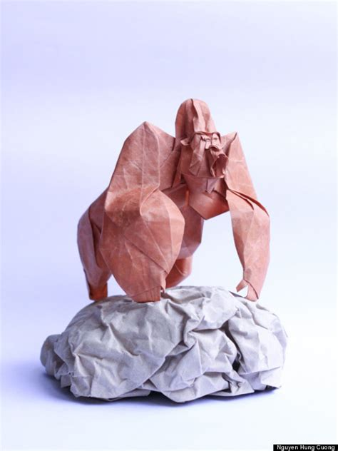 origami artists origami paper artist nguyen hung cuong creates