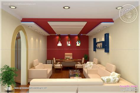 interior decoration home home office interior design by siraj v p home kerala plans