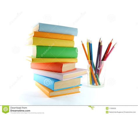 pictures of books and pencils a stack of color books and pencils stock photo image