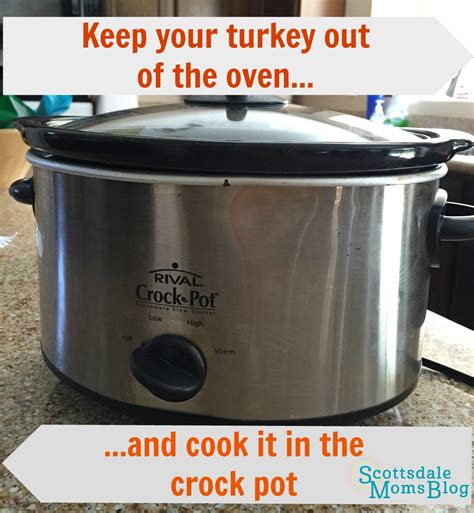 forget the oven and put your turkey in the crock pot