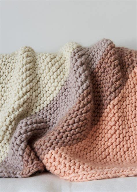 knitting patterns for larger 25 best ideas about knit blankets on chunky