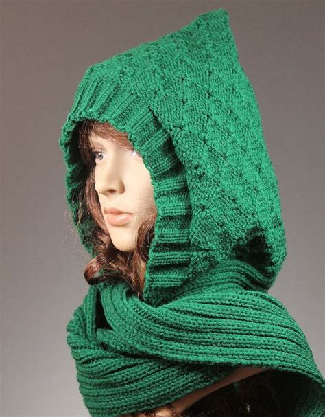 knitted scarf hat scoodie hooded scarf hat scarf combo knit hooded scarf