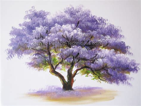 acrylic painting of trees acrylic painting techniques learn to draw and paint with