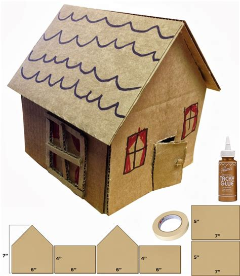 cardboard craft projects cardboard houses projects for