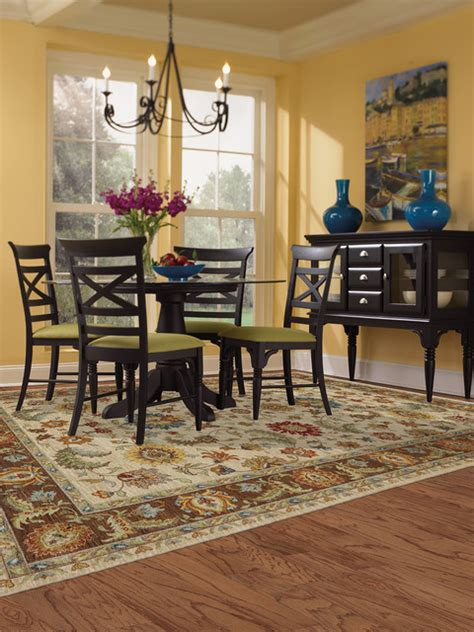 Pictures Of Dining Room With Area Rugs Karastan Area Rug Traditional Dining Room