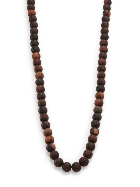 wood bead necklace nest wood beaded necklace in black lyst