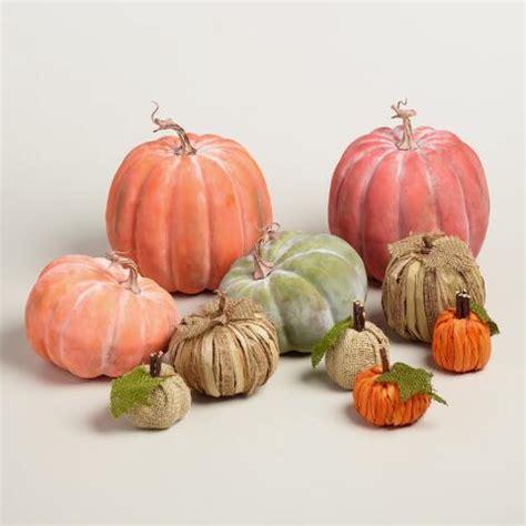 mini burlap mini burlap pumpkins set of 2 world market