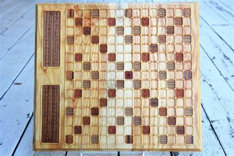 custom scrabble board made honey locust scrabble board by bit beam