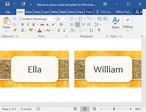 how to make place cards in word how to make printable place cards in word