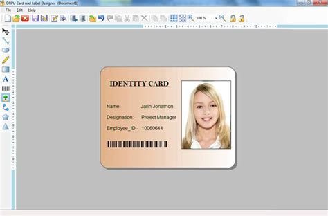 make id cards card and label maker software student employee picture