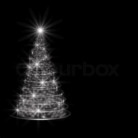 tree on black background silver tree on black background stock vector