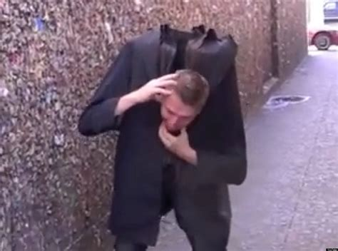 for to do at home headless prank magician freaks out bystanders