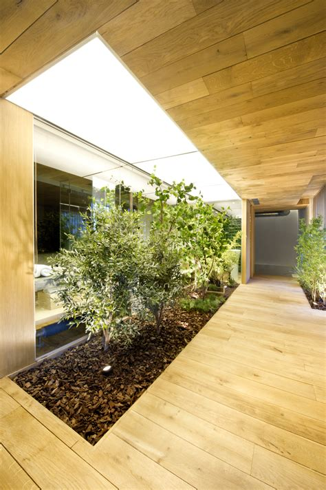 home garden interior design industrial home with interior planting and transparent walls