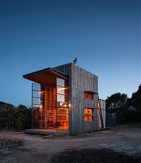 small modern cabin hut on sleds a moving getaway cabin modern cabins