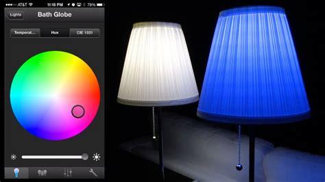led light bulbs that change color philips hue led review and color changing app demos