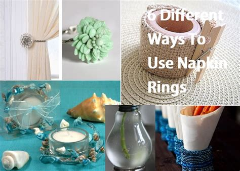 Simple Decorating Ideas For Home 6 different ways to use napkin rings