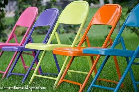 spray painting metal chairs spray paint metal folding chairs ideas