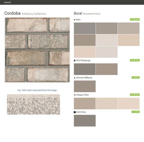 matching behr paint colors to valspar cordoba salisbury collection residential brick boral