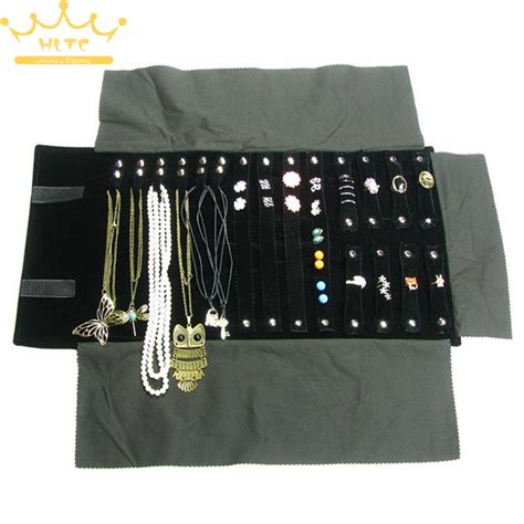 how to make a jewelry roll free shipping velvet jewelry display roll bag travel