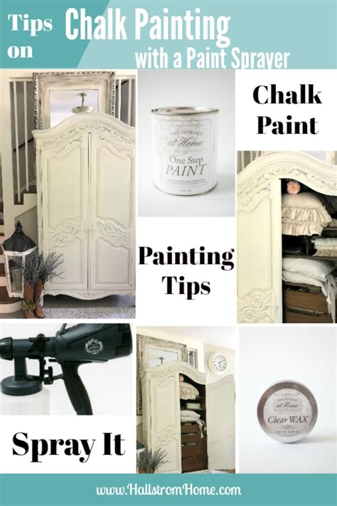 chalk paint in a sprayer tips on chalk painting furniture with a paint sprayer