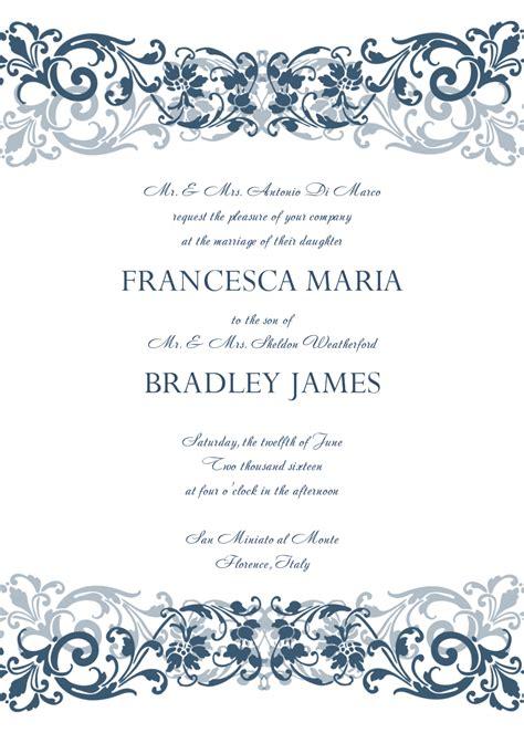 template for invitation 8 free wedding invitation templates excel pdf formats