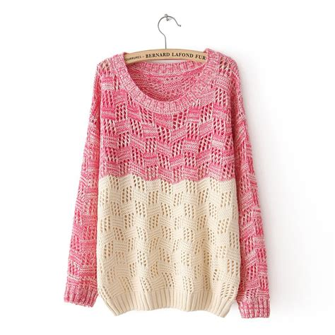 knit sweater womens mixed color knit sweater for on luulla
