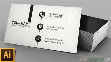 make visiting card clean modern business card illustrator tutorial
